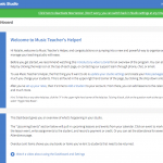 Log in to your Music Teacher's Helper account with A Higher Note LLC's studio today!